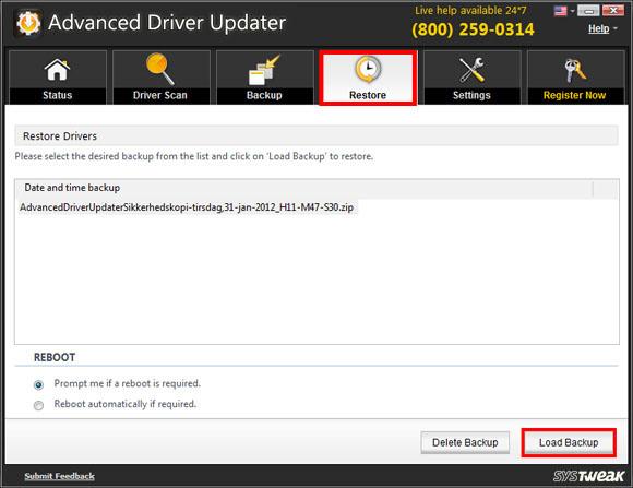 Advanced Driver Updater Screen Shot