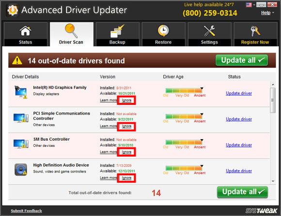 Advanced Driver Updater Screen Shot