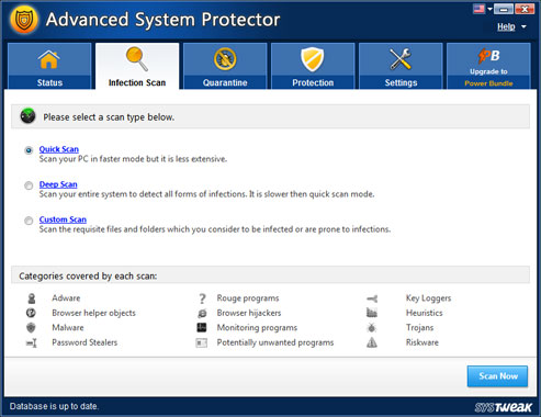 Advanced System Protector Screenshot