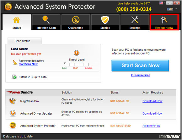 Advanced System Protector Screen Shot
