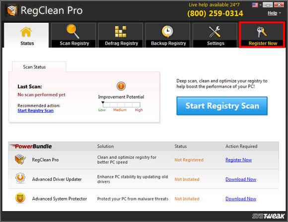 RegClean Pro Screen Shot