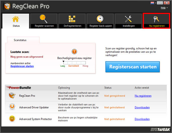 Schermfoto van RegClean Pro
